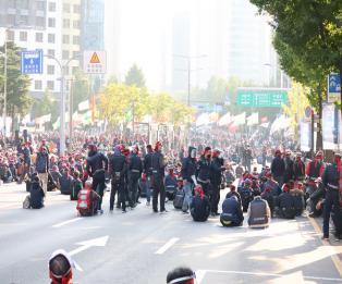 [포토] 민주노총, 서대문역 사거리서 총파업